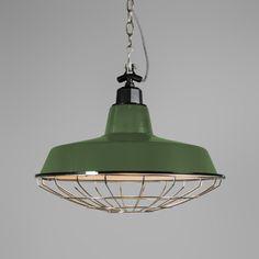 Lámpara colgante STRIJP L verde #iluminacion #decoracion #interiorismo