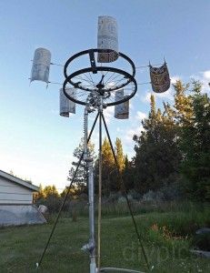 Instructables shares a great project how to make a wind powered water pump with recycled bicycle parts. The project directions have detailed instructions o