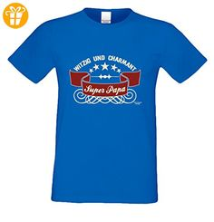 Geburtstagsgeschenk Papa Vater :-: Herren T-Shirt als Geschenkidee :-: Super - Papa :-: Übergrößen 3XL 4XL 5XL :-: Geschenk zum Geburtstag für Papa Farbe: royal-blau Gr: 4XL (*Partner-Link)