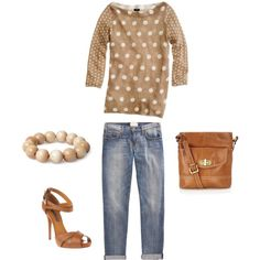 I love the top and the shoes. The outfit is cute and comfy, you might add a scarf...