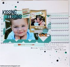 Hello!!! My name is Tracie Marie - Scraptastic Club Found A Boy kit