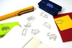 【楽天市場】ディークリップス D-CLIPS 動物型デザインゼムクリップ8種類コンプリートセット【デザイン文具】 【文房具ならワキ文具】:文房具屋さんワキ文具