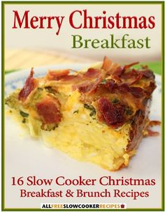 FREE e-Cookbook: 16 Slow Cooker Christmas Breakfast and Brunch Recipes!