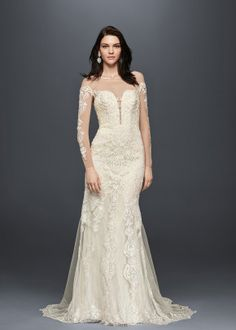 Looking for the top wedding dress designers? Browse David's Bridal elegant designer wedding dresses & gowns to select the perfect look for your big day! Western Wedding Dresses, Affordable Wedding Dresses, Wedding Dresses Photos, Wedding Dress Trends, Bridal Wedding Dresses, Designer Wedding Dresses, Bridesmaid Dresses, Lace Wedding, Wedding Ideas