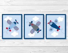 Airplane Nursery Wall Art PRINTABLE Instant Download