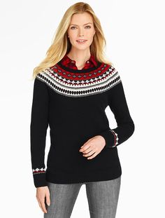 Talbots - Fair Isle Stripe Sweater | Sweaters | Petites- Small - Only if on sale