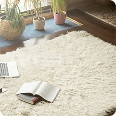 [ Books, Smartphone And Laptop Lying On White Carpet In Modern Luxury Living Room Interior, Cozy Place For Reading, Studying And Relaxing At Home, Flowers And Fireplace With Logs On The Background Living Room Flooring, Living Room Carpet, Living Room Modern, Living Room Interior, Living Rooms, Living Room Decor Colors, Room Paint Colors, Flooring Store, White Carpet