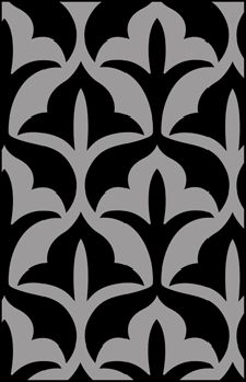 Gothic and Medieval Repeat No 4 stencils, stensils and stencles