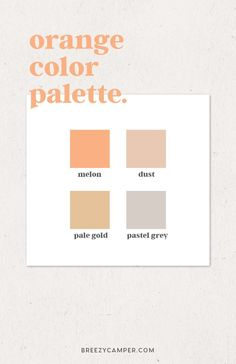 How to Easily Find a Color Palette for Your Brand - Breezy Camper. ,How to Easily Find a Color Palette for Your Brand, Orange Color Palettes, Colour Pallete, Pallette, Color Schemes, Orange Palette, Color Inspiration, Fitness Inspiration, Web Design, Graphic Design