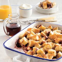 Filling Breakfast Casseroles: One-Dish Blackberry French Toast