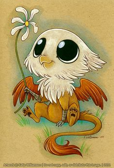 Little Gryphon -- The cuteness.  O.O