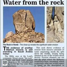 """Exodus NASB """"Behold, I will stand before you there on the rock at Horeb; and you shall strike the rock, and water will come out of it, that the people may drink."""" And Moses did so in the sight of the elders of Israel Bible Scriptures, Bible Quotes, Cultura Judaica, Heiliges Land, Bible Study Notebook, Bible Knowledge, Bible Truth, Torah, Jehovah"""