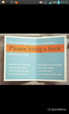 I LOVE this idea for building a child's library!!