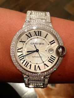 PART OF OUR COLLECTION- ALL FACTORY DIAMOND CARTIER BALLON BLEU- A work of art!
