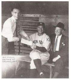 Frank Sinatra and Lou Gehrig