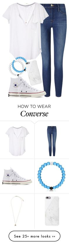 """No Frills"" by red-velvet-n-pearls on Polyvore featuring Frame Denim, Victoria's Secret, Topshop, Converse and Native Union:"