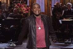 Tracy Morgan has returned to Saturday Night Live after a horror car crash and looked back to his old self as he cracked jokes about his medical struggles