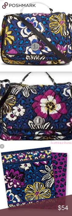 Vera Bradley Turnlock Crossbody This is brand new with tags very nice colors great for spring by Vera. She always has the touch for colors. Silver hardware. Measures width 12 inches length 9 inches. This bag has two ways to hold it by handle on top or by shoulder strap that measures 50 inches could be adjusted for shorter or longer length. Vera Bradley Bags Crossbody Bags