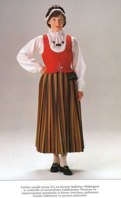 Laitila Finland Folk Costume, Costumes, How To Make Clothes, Skirts, Vintage, Family Houses, Dresses, Handicraft, Ethnic