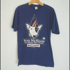 Vintage Tops - Spuds MacKenzie Bud Light Party Shirt