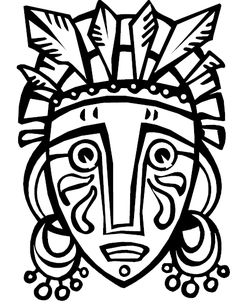 11 Best Photos Of African Art Coloring Pages African Mask . African Art Projects, African Crafts, African Art For Kids, Arte Tribal, Tribal Art, Mask Drawing, Mask Template, Africa Art, Masks Art