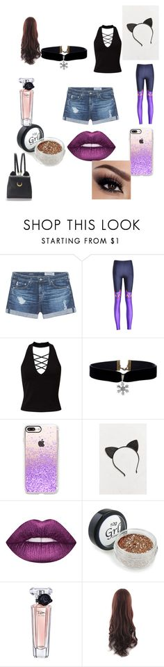 """""""fun packed monday outfit"""" by eviebanker on Polyvore featuring beauty, AG Adriano Goldschmied, Miss Selfridge, Casetify, Urban Outfitters, Lancôme and WithChic"""