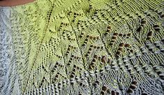 ♥ The Loverly shawl/scarf is knit top down. Knitted Afghans, Shawls And Wraps, Knit Crochet, Blanket, Knitting, Medium, Pattern, Tricot, Breien