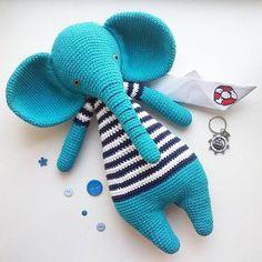 Сейчас очень многие планируют летний отдых. Вот и слоник-морячок весь в местах о дальнем плавании:) Ищет себе попутчика для морских приключений:) Рост слоника 40 см, цена 1500 руб. Возможна пересылка Почтой России. #weamiguru #amigurumi #elephant #crochettoy #toy #toys_gallery #handmade #лисицавяжет #амигуруми #вязанаяигрушка #вязаныйслон #слон #слоник #игрушкакрючком #крючком #крючок #ручнаяработа #вяжуипродаю #вяжутнетолькобабушки #вяжетнетолькохурма