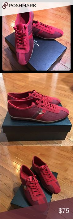 Coach Ivy Nylon/Split Suede in True Red Size 8 They're new with box. Size 8 Coach Shoes Sneakers