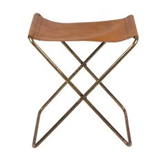 Nola Klapphocker messing-cognac -  - A055145.001