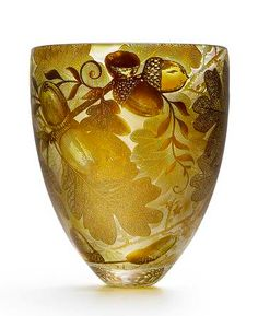 Art is not a luxury, it is a necessity. — Four Seasons Hand-Carved Studio Glass Vases by...