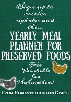 How to plan to eat your preserved foods for the year