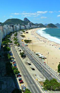 Copacabana Beach, Brazil - see more pics on the blog!