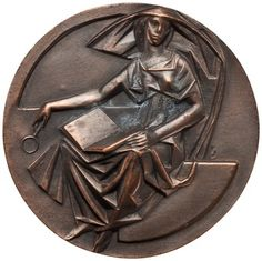 obverse Bronze Medal of Collectors Club of New York