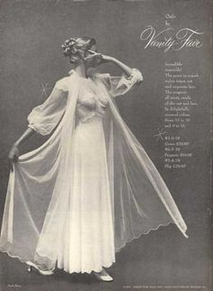 Vanity Fair Ladies Night Gown Mark Shaw (1952)