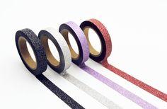 Slim Glitter Masking Tape 4-Pack