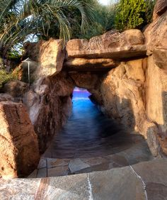custom pool design ~ Lagoon Cave Entrance
