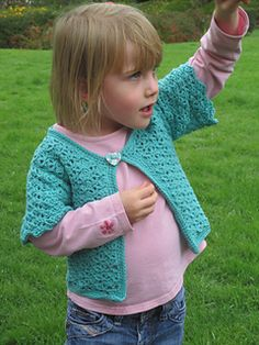 Lacy party cardigan or casual summer cardigan free pattern written in UK terms with photo tutorial. Limited shaping so suitable for advanced beginner. The size shown is for aged 3-4 but after you have made one, it is easy to scale the pattern up due to the simple shape. Rowan yarn.