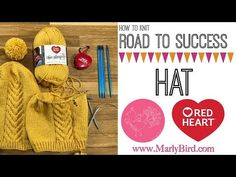 How to Knit Road to Success Chic Hat - YouTube