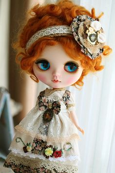 What a pretty dress! #dolls #dollies #collectables #toys #handmade #ooak #blythe