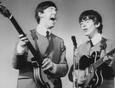 Paul McCartney and George Harrison.