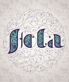 Hola ~ typography lettering calligraphy design by Alejandro Giraldo