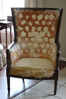 #DIY upholstery tutorial. Like the look of her blog too!