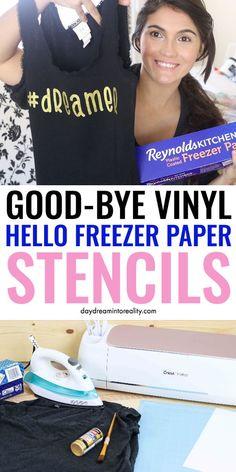 Freezer Paper Stencils with your Cricut or Precision Knife Cricut Air 2, Cricut Help, Silhouette Cameo, Silhouette Projects, Silhouette Machine, Silhouette Files, Minions, Freezer Paper Stenciling, Freezer Paper Transfers