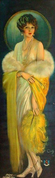 Selz Good Shoes lady, c 1920, Howard Chandler Christy