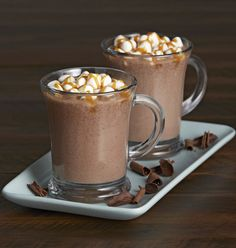 Chocolate and caramel come together in this quick-to-fix hot chocolate recipe. A slow cooker hot chocolate recipe is also available. Perfect for parties!