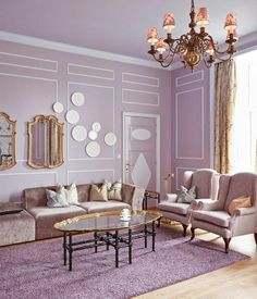 Awesome Purple Living Room Wall Color Ideas 191610 Haircut Style peaky blinders haircut style name Lilac Room, Lavender Room, Purple Rooms, Purple Walls, Room Wall Colors, Living Room Decor Colors, Living Room Color Schemes, Living Room Designs, Lilac Living Rooms
