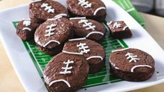 Football party? Take a time-out to create fudgy football brownies!