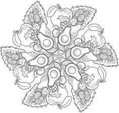 Fruit Mandala Coloring Book