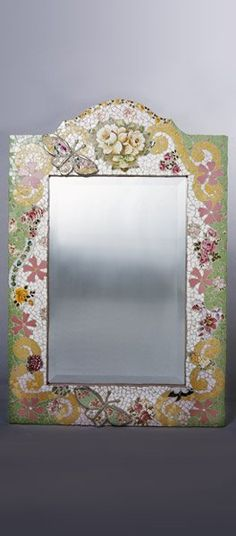 Love this mirror!!!!Butterfly Mirror Mosaic  www.sweetandsourkids.com